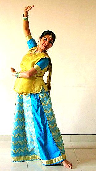 Dancer: Sampada Pillai. Photograph: Manoj Pillai